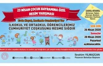 Pazarcık Belediyesi'nden 23 Nisan'a özel resim yarışması