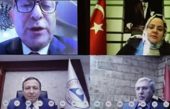 Rektör Can, Bakan Selçuk ile video konferans yöntemiyle görüştü