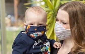 Küçük çocuklara sevdiği karakterlerden maske yapılabilir