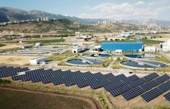 Atık su arıtma tesisine güneş enerji santrali kuruldu