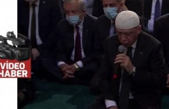 Cumhurbaşkanı, Ayasofya'da Kur'an-ı Kerim okudu