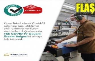 KİPAŞ TEKSTİL'e TSE'den güvenli üretim belgesi
