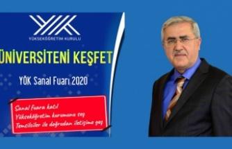 """KSÜ, """"YÖK Sanal Fuarı 2020""""de stant açtı"""