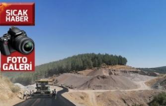 KMBB'den Yenipınar Yoluna sıcak asfalt