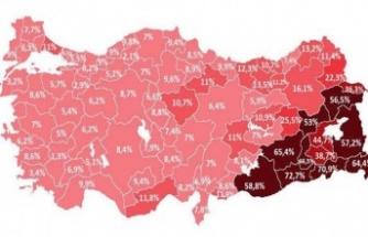 Türkiye'de kaçak elektrik kullanım haritası