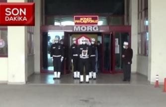 Hastanede yaşamını yetiren polis memuru son yolculuğuna uğurlandı