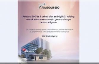 """""""Anadolu 500"""" listesinde Kipaş Holding başarısı"""