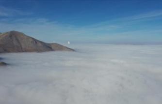 Oluşan sis tabakası görsel şölen sundu