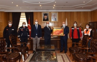 AFAD Heyeti vali Coşkun'u ziyaret etti…