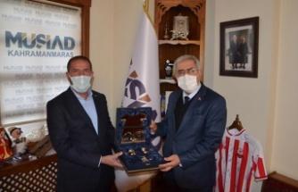 KSÜ Rektörü Prof. Can, MÜSİAD Başkanını ziyaret etti