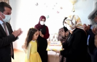 Şehit kızına doğum günü sürprizi yapıldı