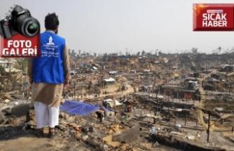 Yangının vurduğu Arakanlılara Türkiye'den acil yardım