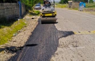Pazarcık'ta 5 mahalleye ulaşım sağlayan yol iyileştiriliyor