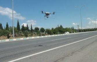 Trafik drone ile denetlenecek