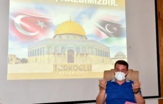Türkoğlu'nda Belediye Meclisi, Filistin için dua etti