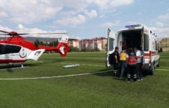 Kalp krizine ambulans helikopter geldi