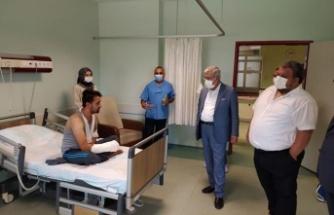 KSÜ Rektörü Can'dan Tıp Fakültesi Hastanesine bayram ziyareti