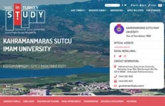 KSÜ, 'Study in Turkey YÖK sanal fuarında