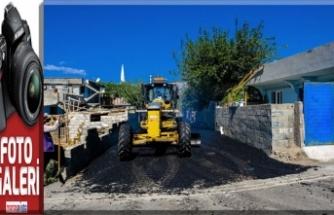 Dulkadiroğlu Belediyesi'nden Gençosman'da asfalt çalışması