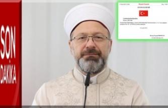Prof. Dr. Ali Erbaş, Diyanet İşleri Başkanlığına yeniden atandı
