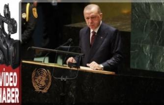 TC Cumhurbaşkanı Recep Tayyip Erdoğan, Birleşmiş Milletler Genel Kurul'unda konuştu