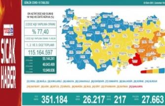 Koronavirüsten dün 217 kişi hayatını kaybetti