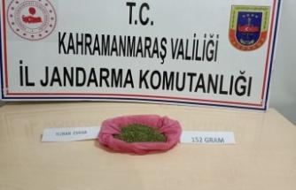 Pazarcık'ta 152 gram kubar esrar ele geçirildi