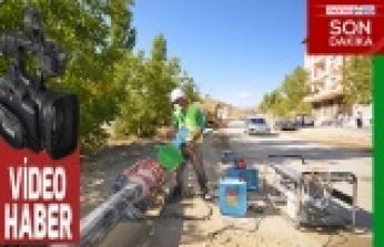 Çağlayancerit'te içme suyu şebeke yenileme çalışmaları tamamlandı