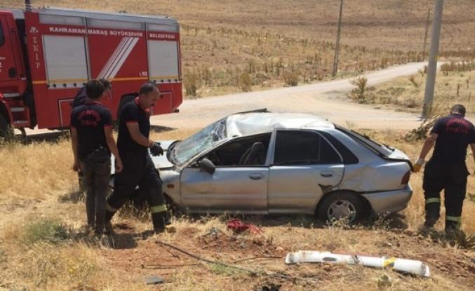 Banka aracına çarpan otomobil takla attı: 6 yaralı