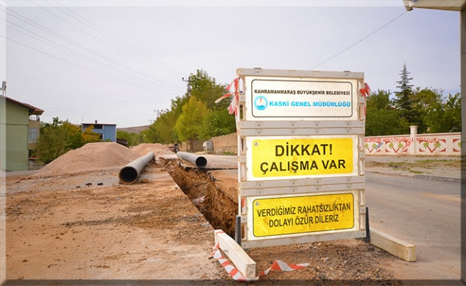 Afşin'in içme suyu eksiklikleri gideriliyor
