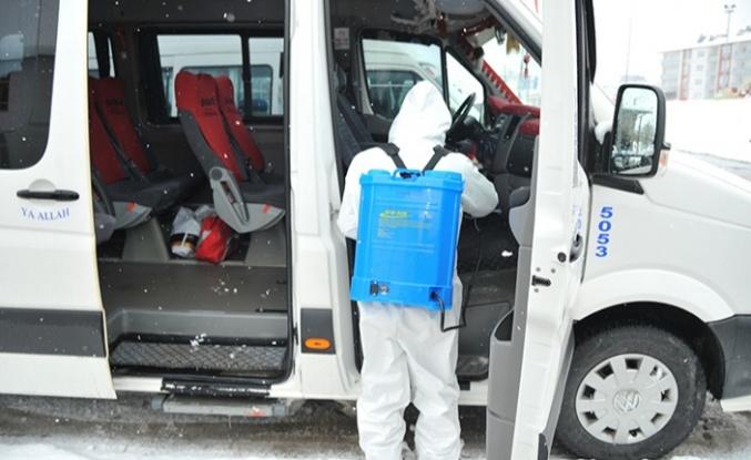 Göksun Belediyesi koronavirüs tedbirlerine devam ediyor