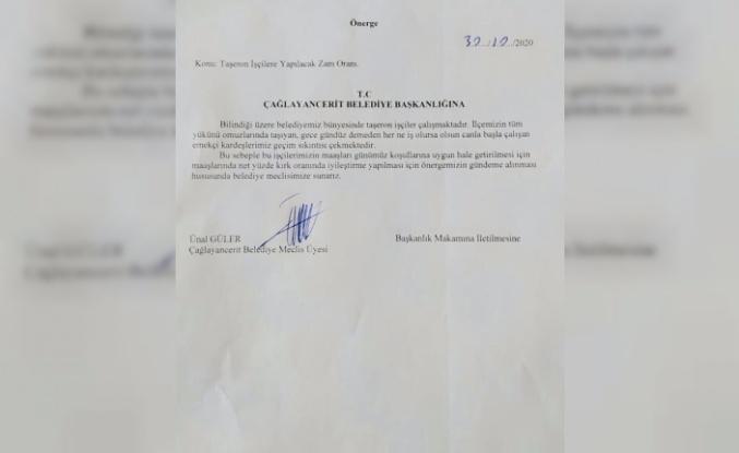 MHP'li üye, taşeron işçilerin ücretlerinin net yüzde 40 artırılmasını istiyor
