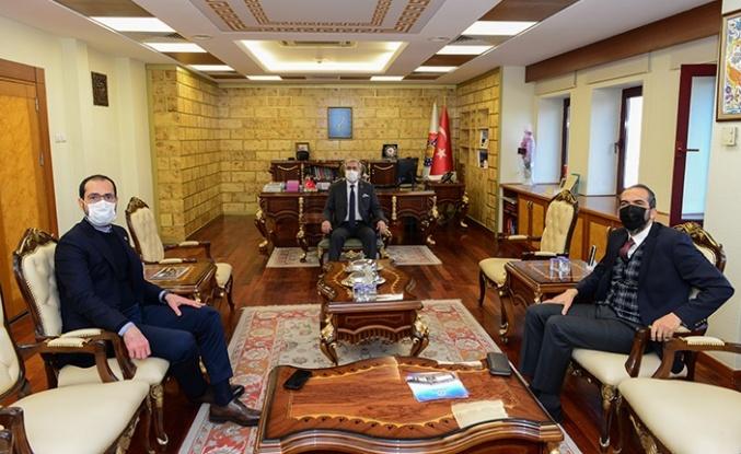 Özdemir ve Sezal, KSÜ Rektörü'nü ziyaret etti