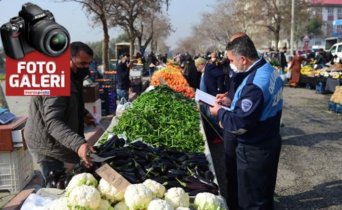Dulkadiroğlu Belediyesi zabıta ekiplerinden pazar denetimi