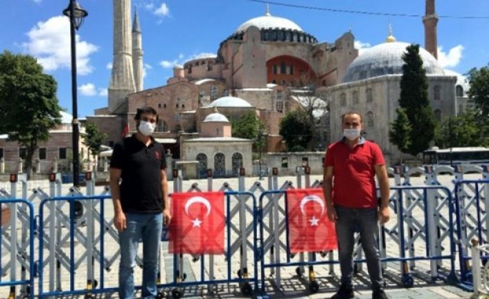 Ayasofya Camii'ne Anadolu'dan ziyaretçi akını